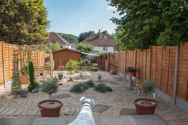Secure garden with fencing